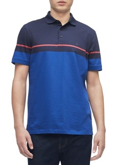 Calvin Klein Men's Colorblocked Liquid Touch Polo