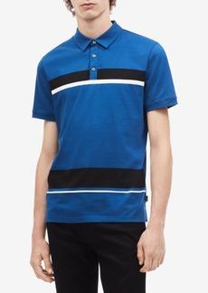 Calvin Klein Men's Colorblocked Striped Polo