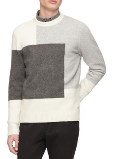 Calvin Klein Men's Colorblocked Textured Sweater