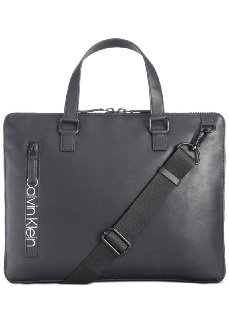 Calvin Klein Men's Contrast-Logo Attache Case