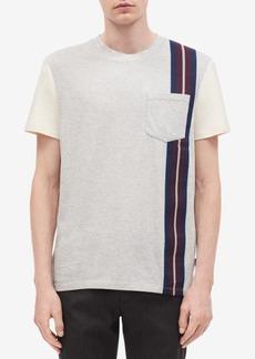 Calvin Klein Men's Contrast Sleeve-Tape T-Shirt