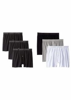 Calvin Klein Men's Cotton Classics Multipack Knit Boxers Black  and White/Black/Grey
