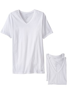 Calvin Klein Men's Cotton Classics Short Sleeve V-Neck T-Shirt