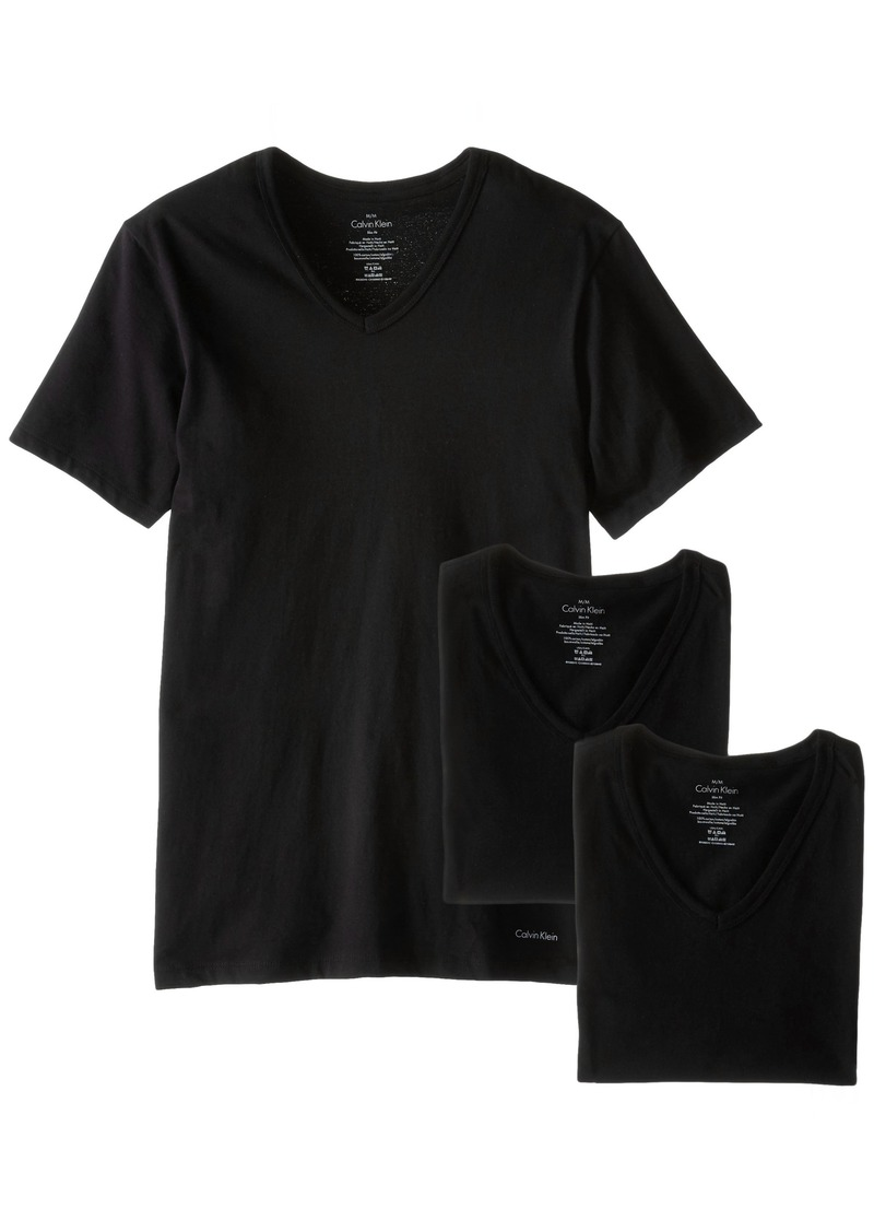 Calvin Klein Men's Cotton Classics Short Sleeve V-Neck T-Shirt