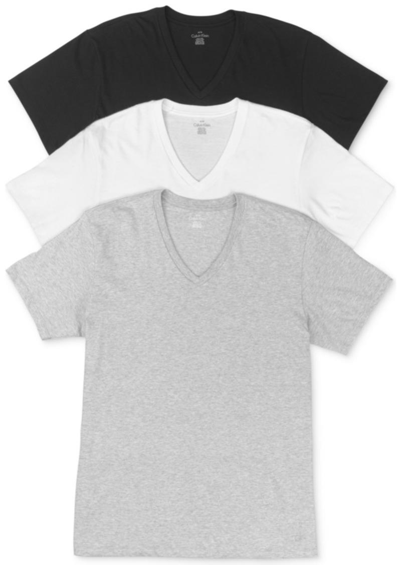Calvin Klein Men's Cotton Classics Short Sleeve V-Neck T-Shirts Classic Fit