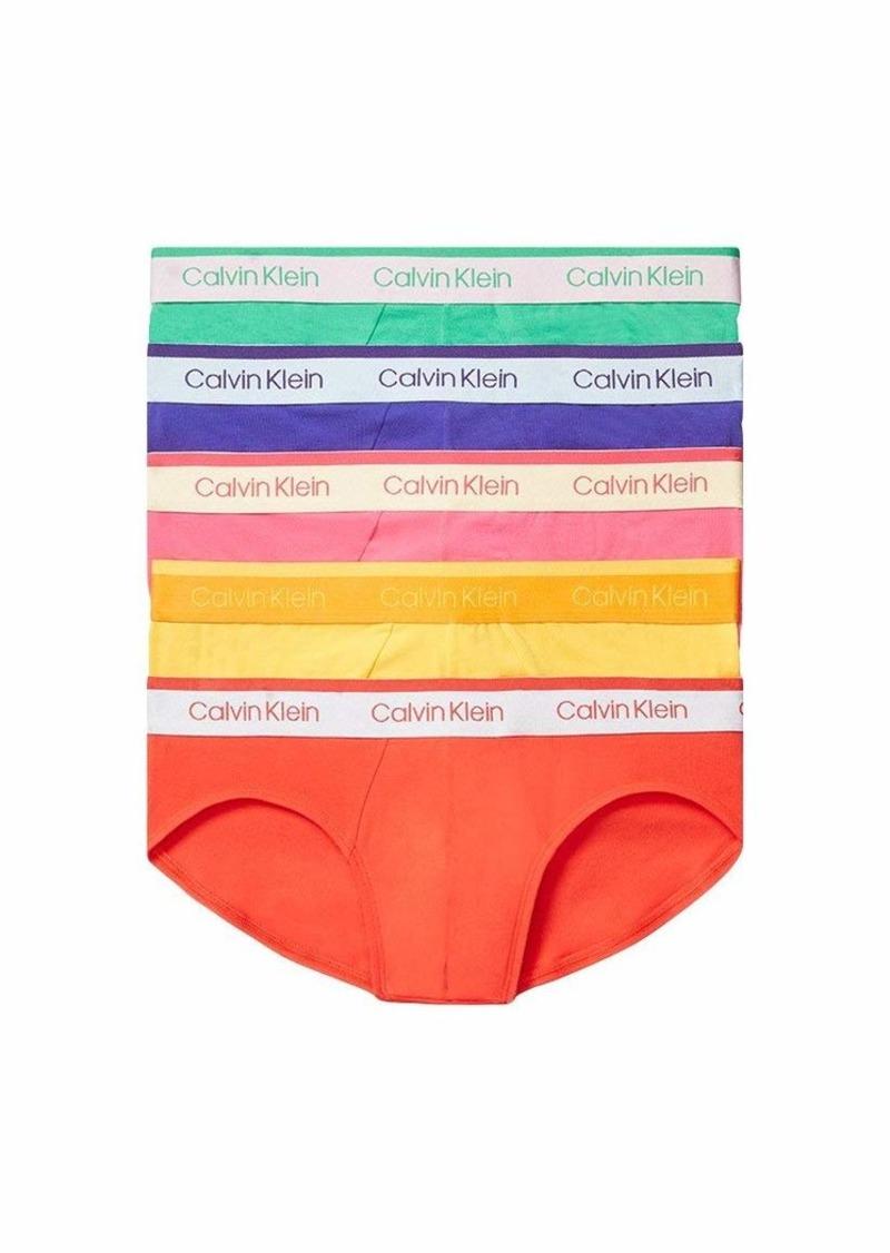 Calvin Klein Men's Cotton Stretch Hip Brief (Pride)  S