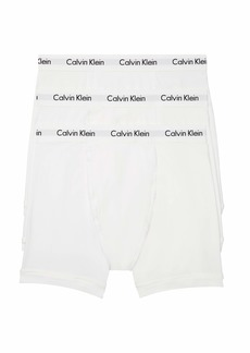 Calvin Klein Men's Cotton Stretch Multipack Boxer Briefs White with Wicking L