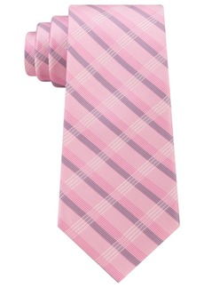 Calvin Klein Men's Creme Plaid Tie
