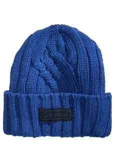 Calvin Klein Men's Crossroad Cable-Knit Hat