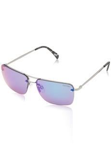 Calvin Klein Men's CWR155S Sunglasses Gunmetal/Green Flash 59 mm