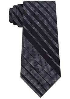 Calvin Klein Men's Degrade Plaid Slim Silk Tie