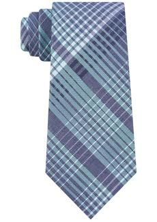 Calvin Klein Men's Degrade Plaid Slim Tie