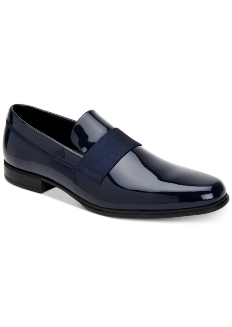 Calvin Klein Men's Demetrius Patent Leather Tuxedo Loafers Men's Shoes