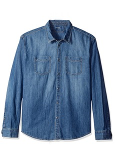 Calvin Klein Men's Denim Button Down Shirt