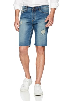 Calvin Klein Men's Denim Jean Short rip Indigo