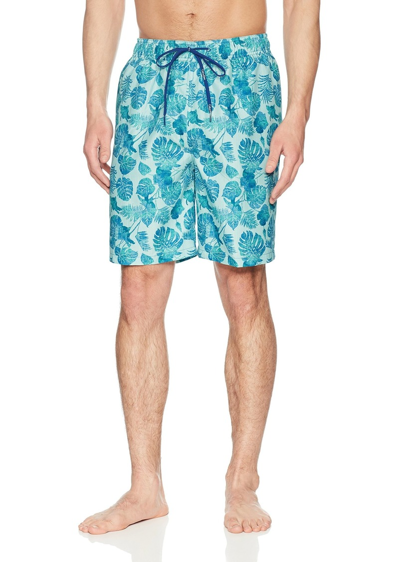 Calvin Klein Men's Denim Palm Printed Swim Trunk  Extra Large