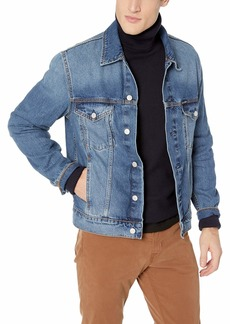 Calvin Klein Men's Denim Trucket Jacket Ed blue