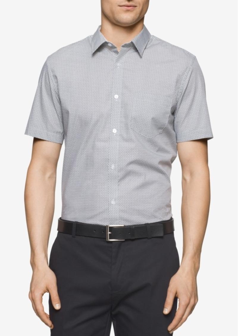 Calvin Klein Men's Diamond-Print Shirt