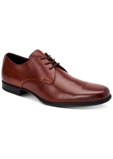 Calvin Klein Men's Dillinger Crust Leather Oxfords Men's Shoes