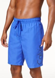 """Calvin Klein Men's Drawstring 7"""" Swim Trunks"""