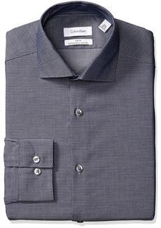 Calvin Klein Men's Dress Shirt Non Iron Stretch Slim Fit Unsolid Solid