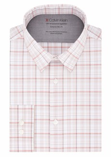 Calvin Klein Men's Dress Shirt Xtreme Slim Fit Thermal Stretch Check
