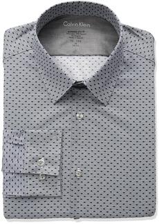 Calvin Klein Men's Dress Shirts Xtreme Slim Fit Print Thermal Stretch