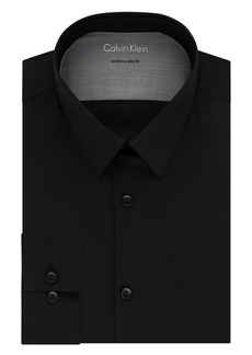 Calvin Klein Men's Dress Shirts Xtreme Slim Fit Solid Thermal Stretch   (X-Large)