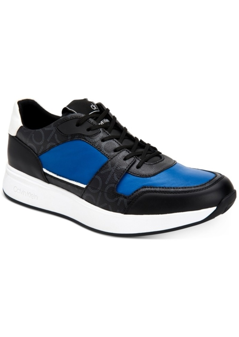 Calvin Klein Men's Dudley Low Top Logo Fashion Sneakers Men's Shoes