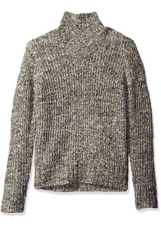 Calvin Klein Men's Space Dye High Cross Neck Sweater bulrush Space D
