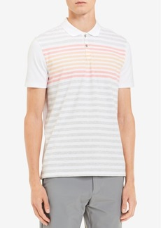 Calvin Klein Men's Liquid Touch Engineered Stripe Polo