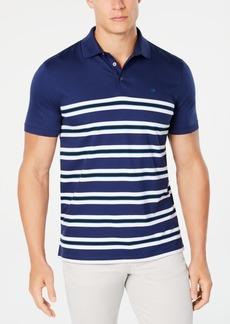 Calvin Klein Men's Engineered Stripe Ribbed Polo Shirt