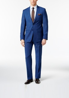 Calvin Klein Men's Slim Fit High Blue Pindot Suit