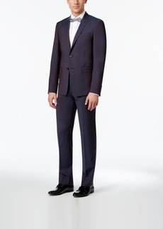 Calvin Klein Men's Extra Slim-Fit Wine Peak Lapel Suit