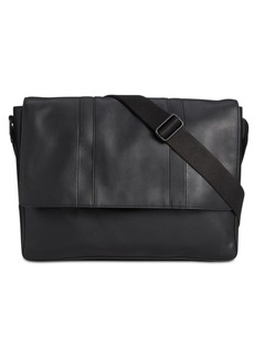 Calvin Klein Men's Faux-Leather Messenger Bag