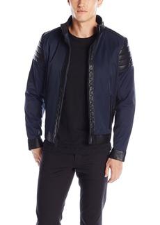 Calvin Klein Men's Faux Leather Mix Media Jacket