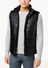 Calvin Klein Men's Faux-Leather Puffer Vest