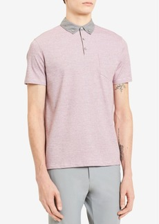 Calvin Klein Men's Feeder-Stripe Pocket Polo