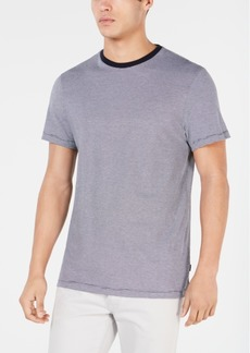 Calvin Klein Men's Feeder Striped Pima Cotton T-Shirt