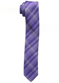Calvin Klein Men's Fine Line Plaid Slim Tie