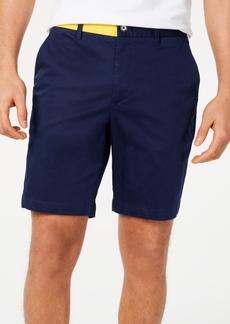 Calvin Klein Men's Flat-Front Colorblocked Sateen Shorts