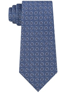 Calvin Klein Men's Four Point Medallion Slim Silk Tie