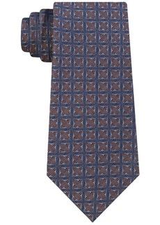 Calvin Klein Men's Four Point Medallion Slim Silk Tie