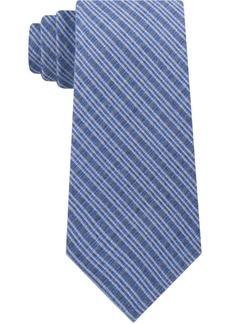 Calvin Klein Men's Four Square Neat Slim Silk Tie