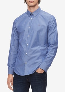 Calvin Klein Men's French Placket Striped Shirt