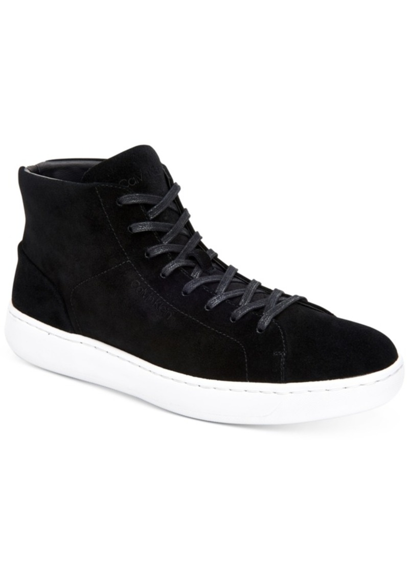 Calvin Klein Men's Frey High-Top Suede Fashion Sneakers Men's Shoes