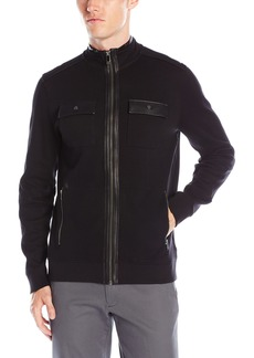 Calvin Klein Men's Full Zip French Rib Long Sleeve Knit  2X-Large