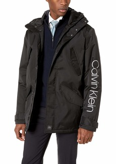 Calvin Klein Men's Full Zip Hooded Parka Jacket