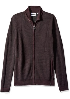 Calvin Klein Men's Merino Sweater Full Zip