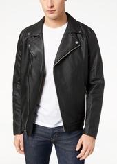 Calvin Klein Men's Full-Zip Wool Moto Jacket